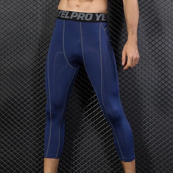 aliveGOT Athletic Base Layer Pants for Men Performance Running Tights Rash Guard