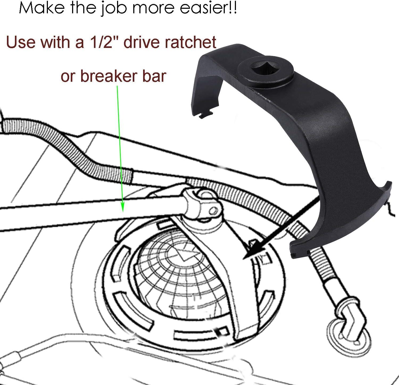 Universal Fuel Tank Lock Ring Tool Fuel Sender Tank Lid Remover /& Adjustable Fuel Pump Module Spanner Wrench