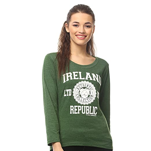 ac03d40ee2ee Image Unavailable. Image not available for. Color: Irish Connexxion Ladies  Long Sleeve T-Shirt with Ireland Republic LTD EDT ...