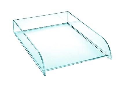 OSCO Bandeja doble de acrílico transparente, bandeja para ...