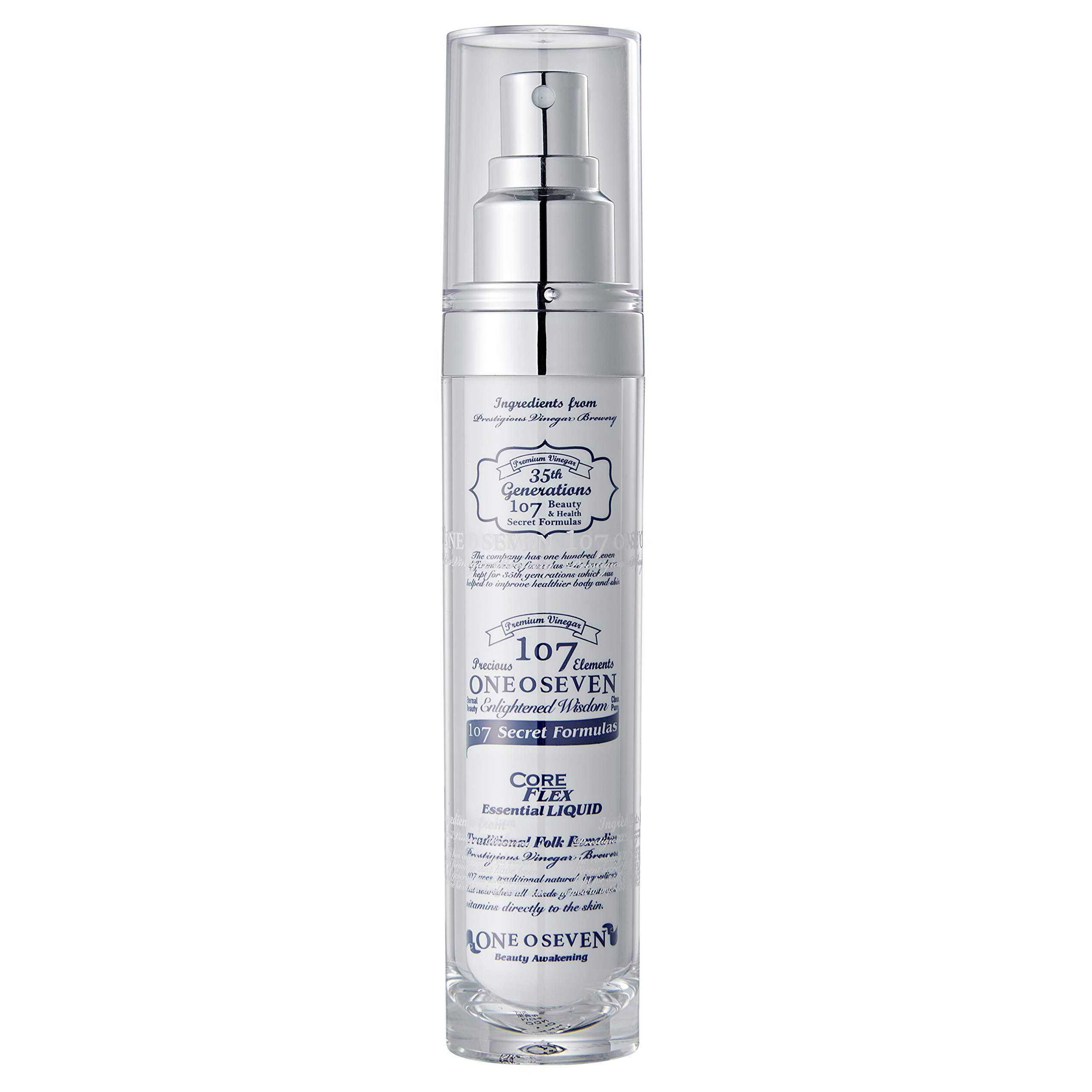 ONEOSEVEN Coreflex Essential Liquid Mist 50ml / 1.7 fl. oz. | Fermented Vinegar & Rice Ferment Filtrate | Glowing Skin, Low Irritation (50ml/1.7fl.oz.) by 107
