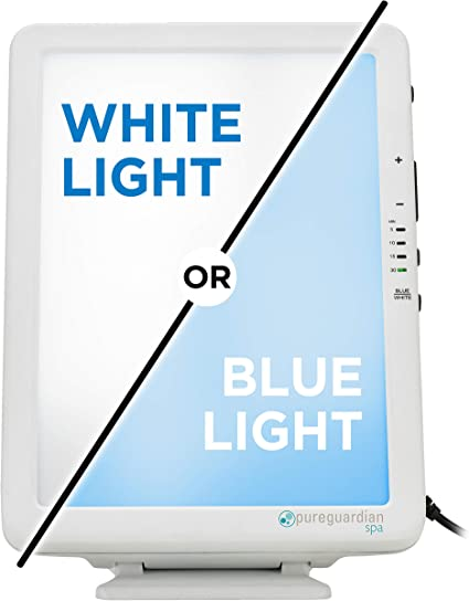 Pureguardian Spa50ca Light Therapy Lamp 10 000 Lux Full Spectrum Customizable Blue Or White Light Intensity Timer Compact Portable Pure Guardian Sun Lamp Amazon Ca Health Personal Care