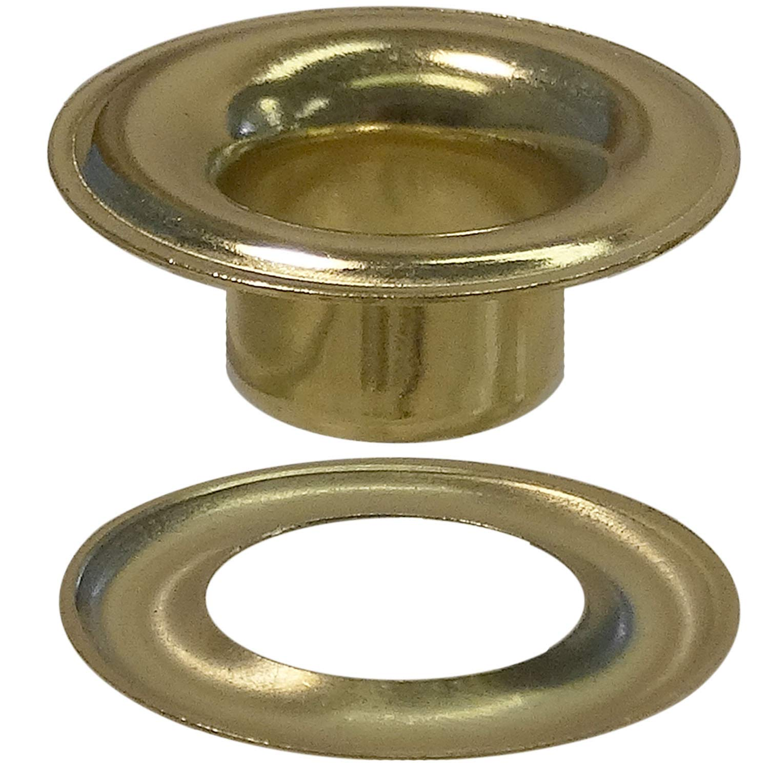 Stimpson Sheet Metal Grommet and Washer Brass Durable, Reliable, Heavy-Duty #3 Set (1,440 Pieces of Each) by Stimpson Co., Inc. (Image #1)