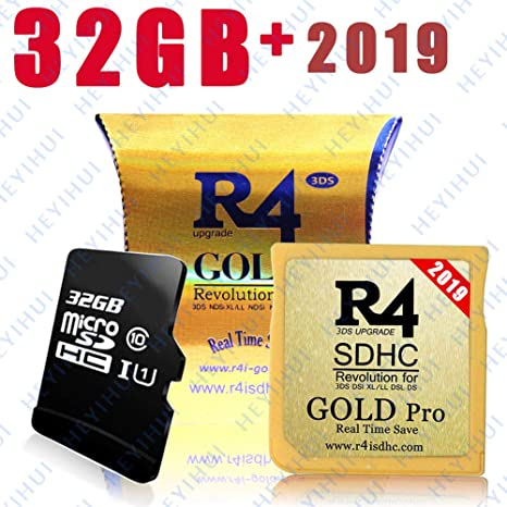 Tarjeta SD Gold SDHC + 32GB 2019 (ya descargue el Kernel ES-IT-FR-DE-UK) para DS - DS Lite - DSi - DSi XL - 3DS - 2DS
