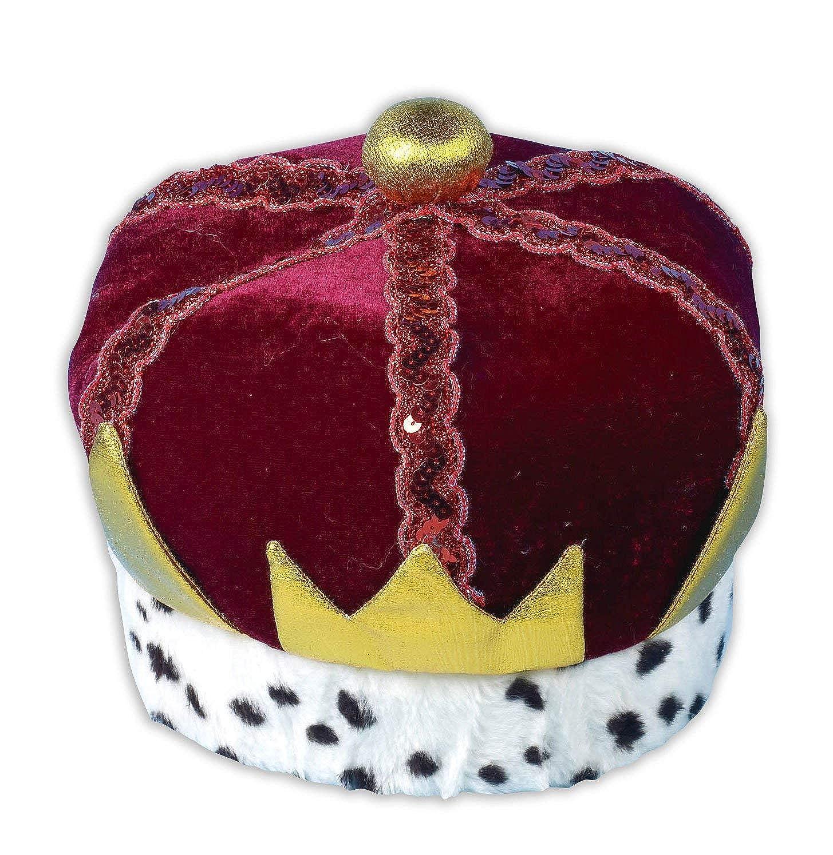 Donna Da Uomo Adulto Red King Regina Principessa Costume Outfit crownhat
