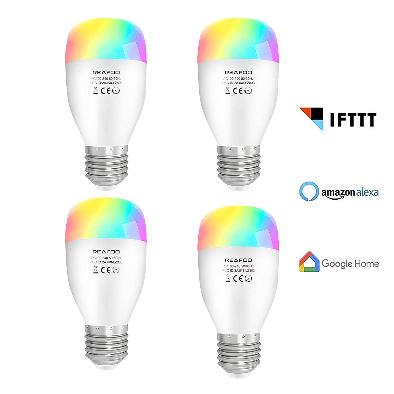 Lampadina Smart LED Wifi E27 Smart Bulbs RGBW Dimmerabile Multicolore