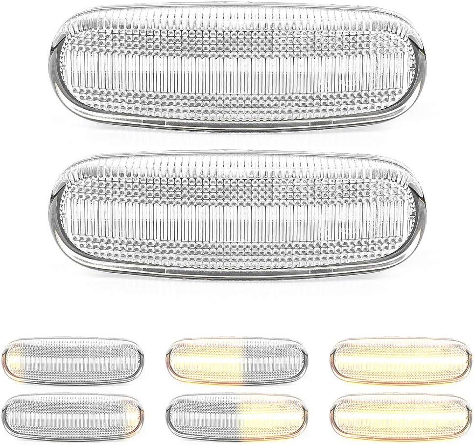 Fanuse Indicatore di Direzione Auto Che Scorre Specchio Retrovisore LED Indicatore Dinamico Lampeggiante per Mercedes Un B S C e GLA GLK W176 W246 W212 W204 C117 X156 X204 W221 W218