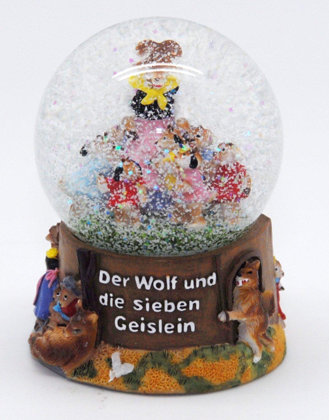 30039 Contes Boule /à neige le loup et les sept geislein 65 mm