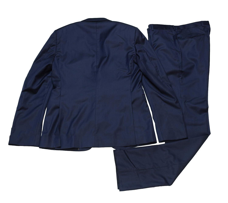 f36d17158a Z Zegna Mens Navy Striped Slim Fit Wool 2 Piece Suit EU 50R US 40R ...