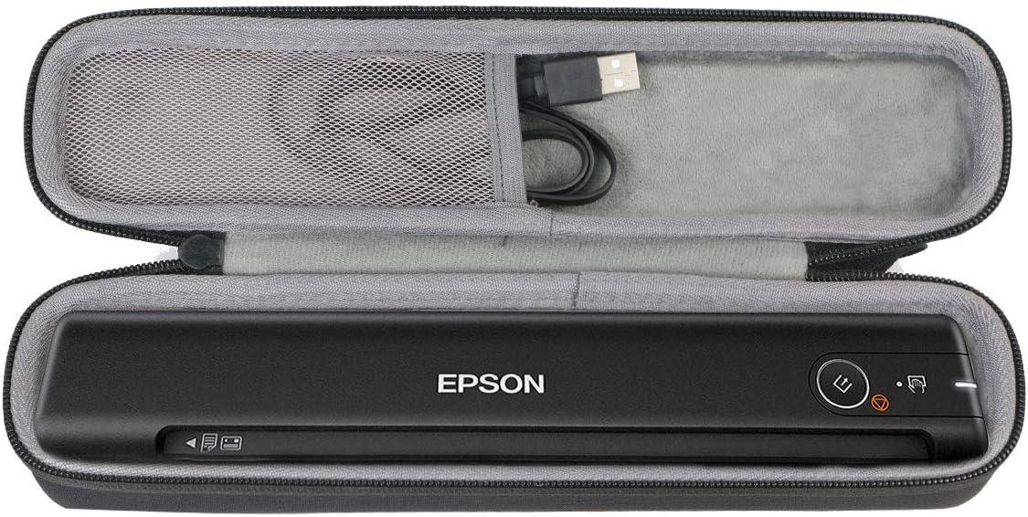 co2crea Hard Travel Case for Epson Workforce ES-50 ES-60W DS-70 DS-80 Portable Sheet-fed Document Scanner