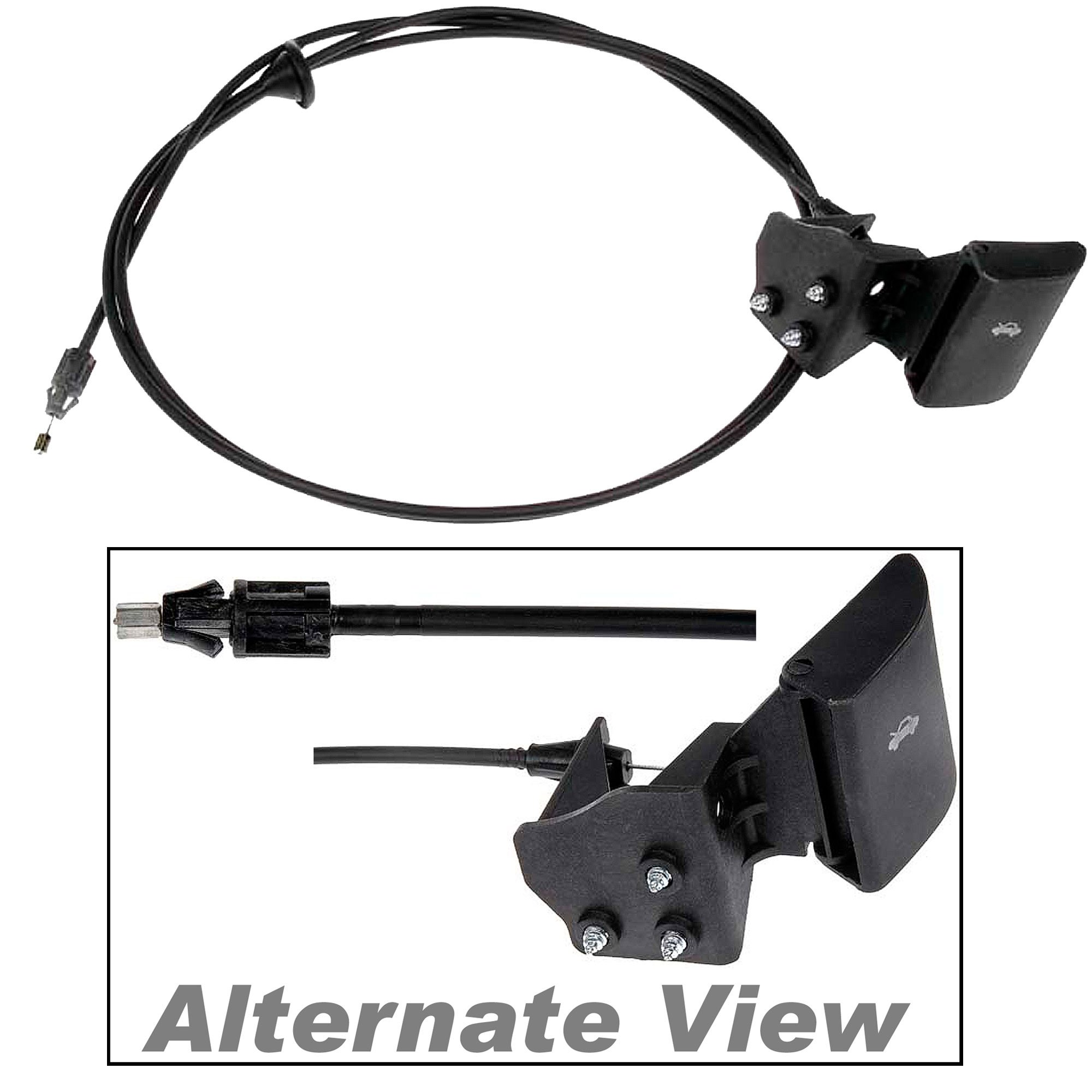 APDTY 023198 Hood Release Cable With Handle Fits 2006-2009 Jeep Commander / 2005-2009 Jeep Grand Cherokee (Replaces 55394495AB, 55394495AC, 55394495AD, 55394495AA)