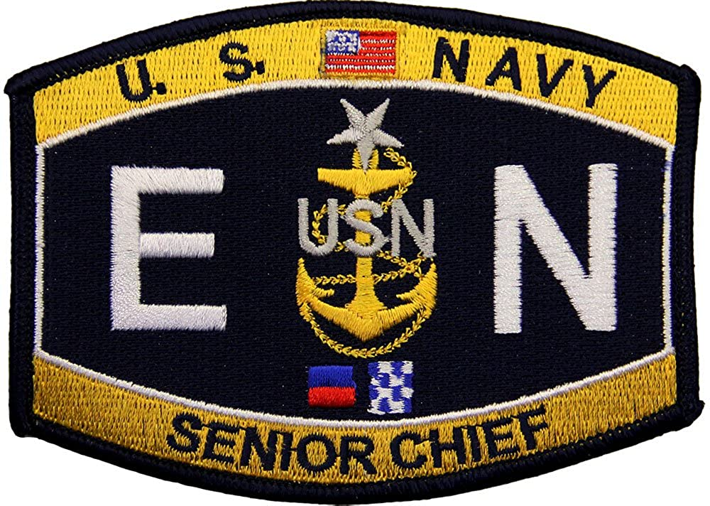 USN Rate E N Senior Chief Engineman Patch Full Color