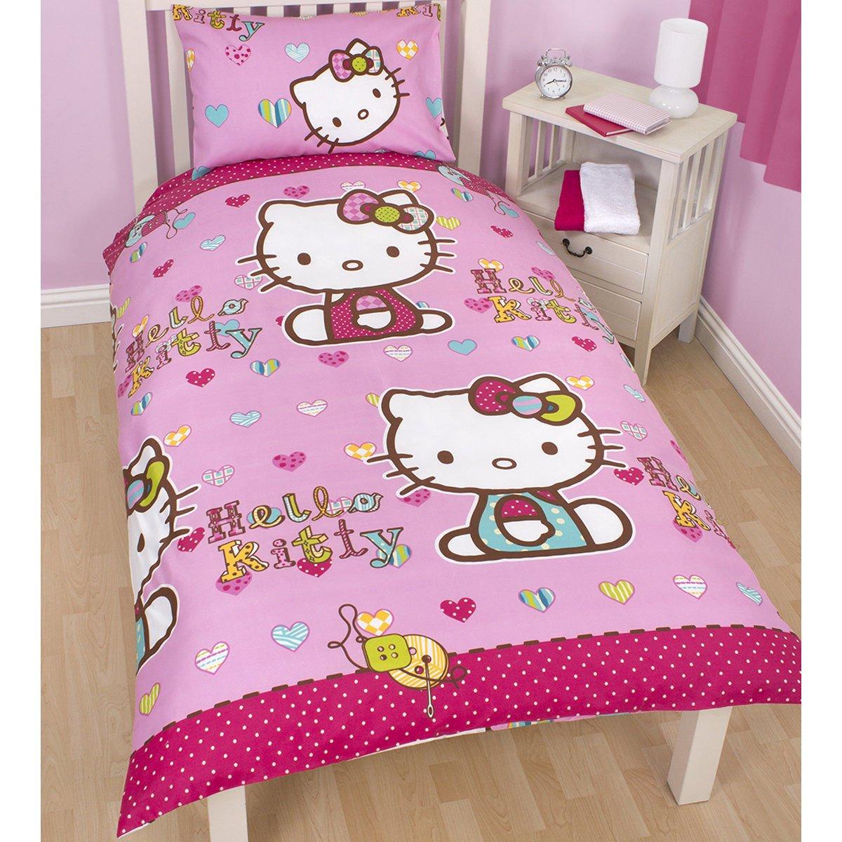 Drap Black Hearts Hello Kitty