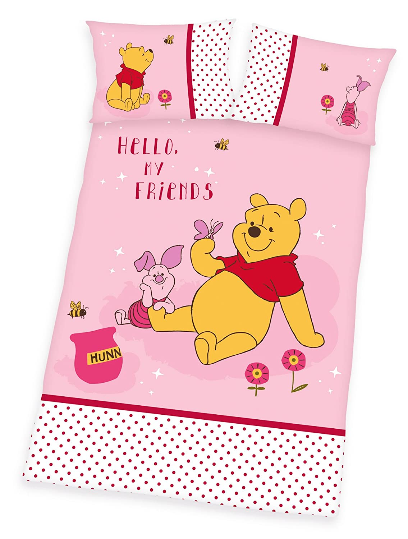 Winnie the Pooh Baby Bedlinen Set 100 x 135 cm//40 x 60 cm Multicoloured