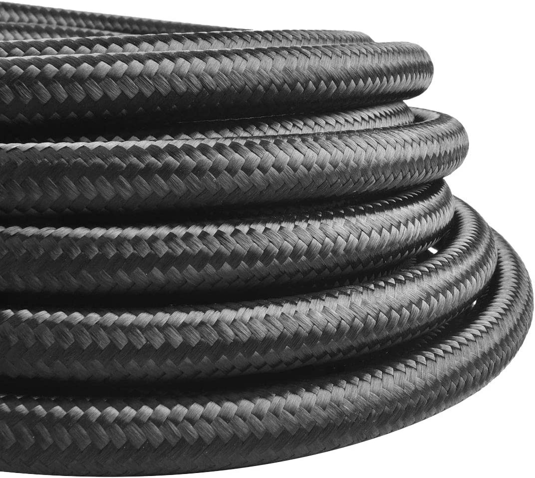 EVIL ENERGY 10FT 10AN 5//8 Nylon Stainless Steel Braided Fuel line 9//16 14.29mm ID CPE Tube Oil Hose Universal
