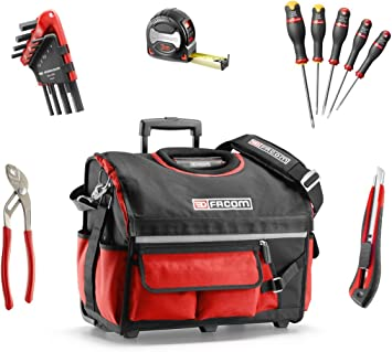 Facom BS.r20cmwb caja de herramientas textil con 23 herramientas, negro: Amazon.es: Bricolaje y herramientas