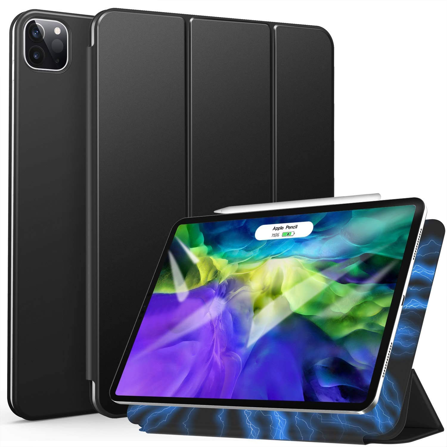 ZtotopCase Magnetic Case for iPad Pro 11 2021/2020, Ultra Slim Smart Magnetic Back, Trifold Stand Protective Cover with Auto Wake/Sleep for 2021/2020 iPad Pro 11 Inch, Black