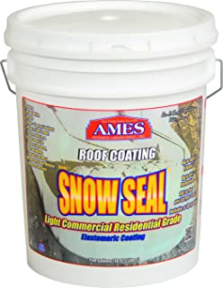 AMES RESEARCH LABORATORIES SSC5 Snow Roof Coating, 5 Gallon White