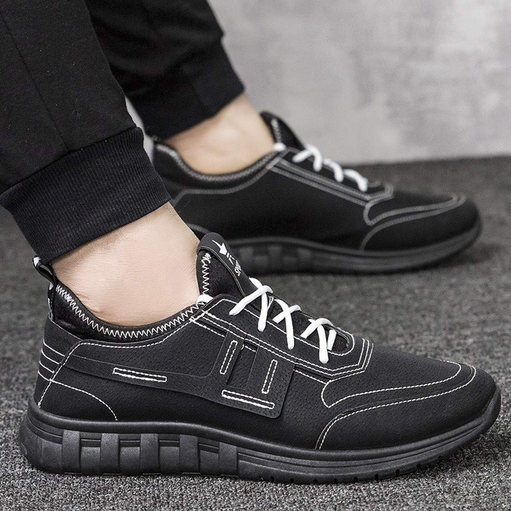 Fashion Shoebox Mens Casual Running Shoes Breathable Leather Waterproof Mens Shoes Sports Shoes