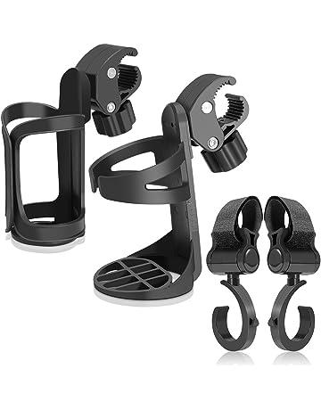 Portavasos para bicicletas- Uiter portabotellas, Portavasos universal con 360 grados de rotación para cochecitos