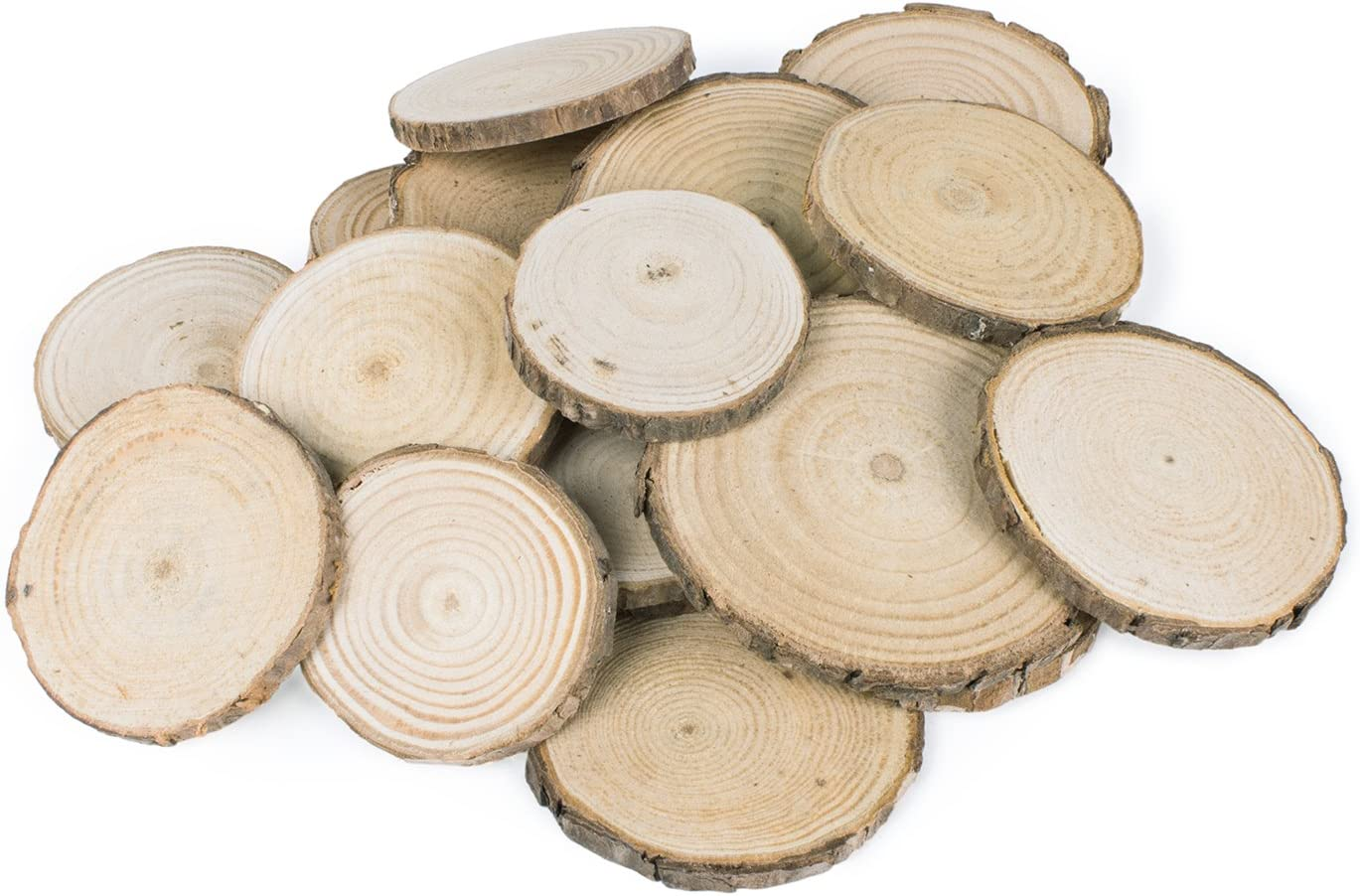 10 x Real Wood Tree Slices ~5cm Rustic Wedding Table Craft Decor Natural Logs