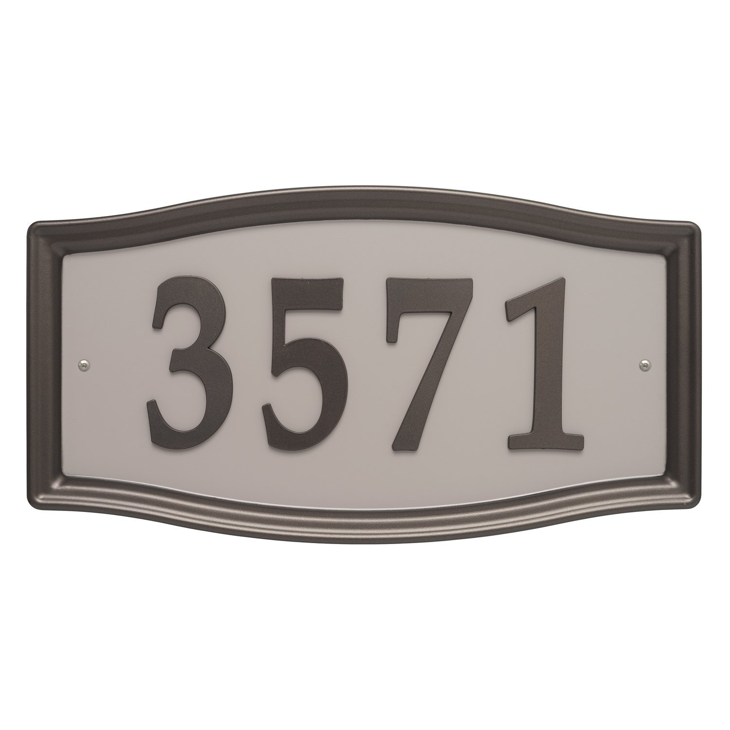 Whitehall Products Easy Street Address Sign Plaque, Bronze 11198