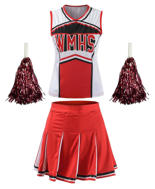 Women's High School Musical Cheerio Classic Cheerleader Athletic Sport Uniform Fancy Dress