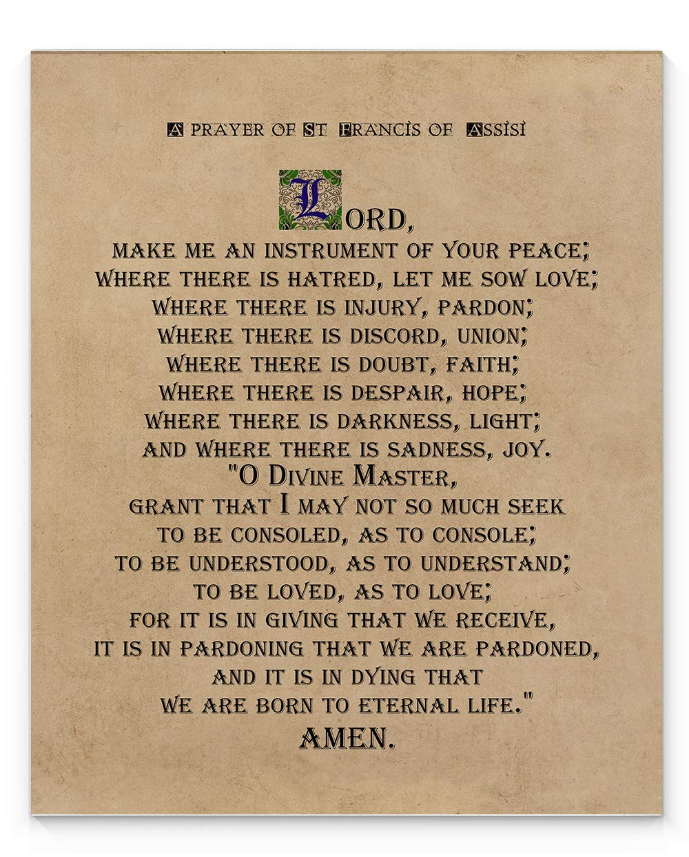 picture relating to St Francis Prayer Printable known as St Francis of Assisi Prayer Wall Artwork, 11\