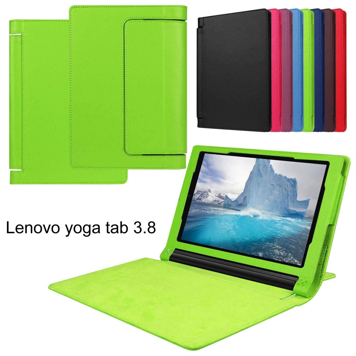 Asng Lenovo Yoga Tab 3 8 Case - Slim Folding Stand Cover Smart Case for 2015 Lenovo Yoga Tab3 8-Inch Tablet (Green)
