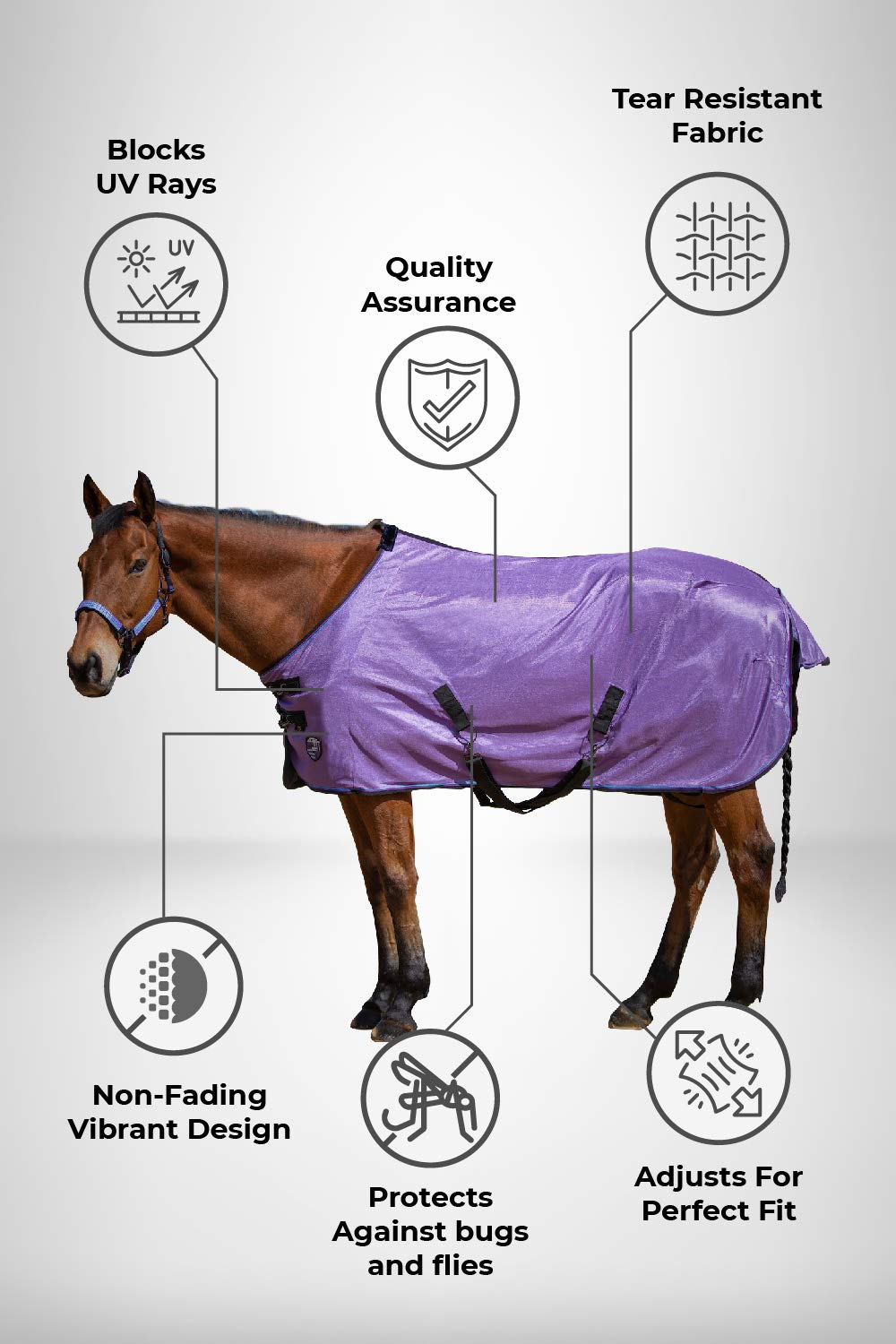 Kensington PolyMax Fly Sheet 75 Lavender Mint by Kensington Protective Products
