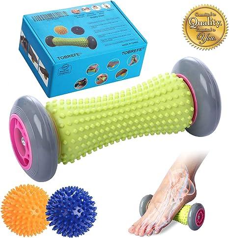 ryson pelota con pinchos rodillo de masaje para los pies para ...