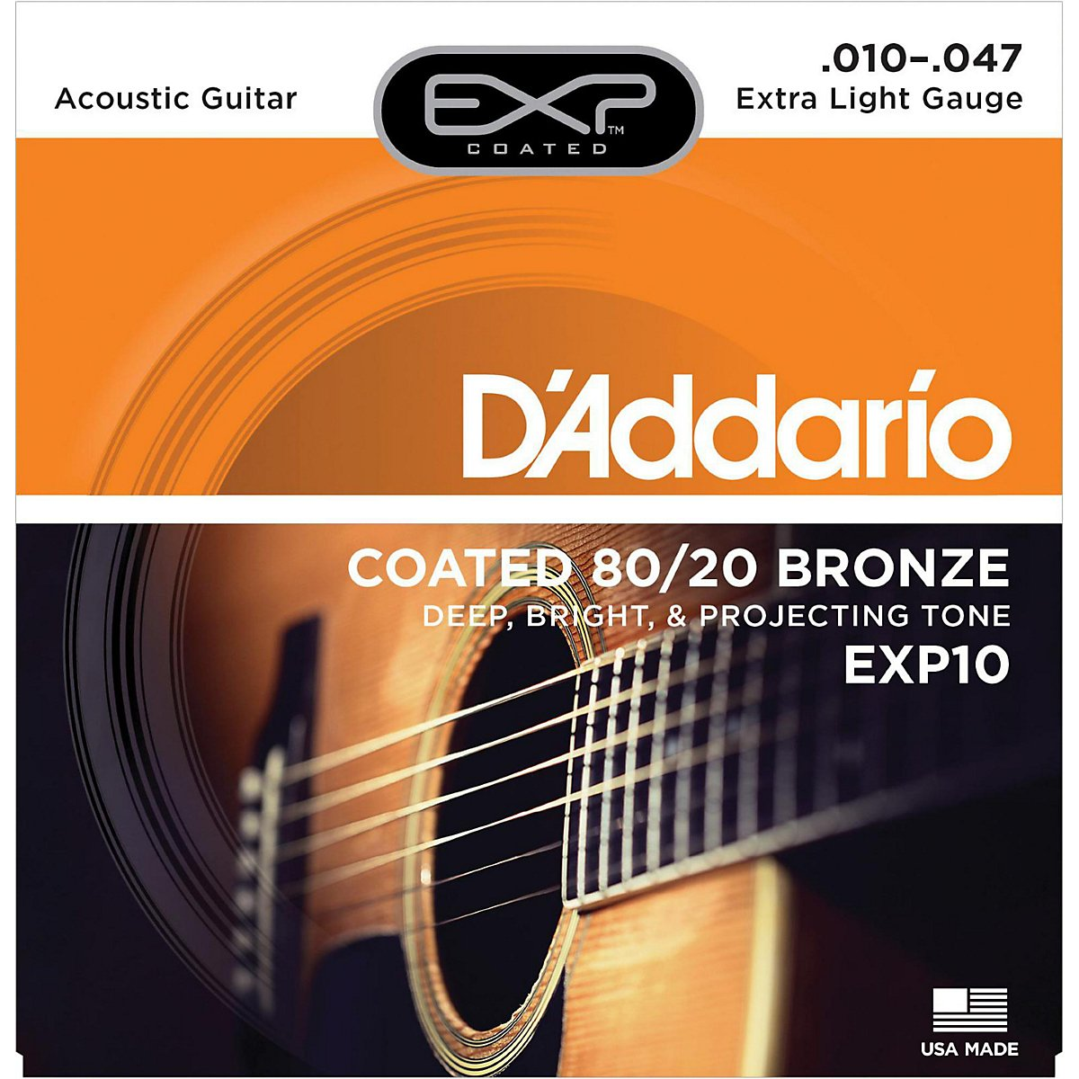 D'Addario EXP17 Coated Phosphor Bronze Medium Acoustic Guitar Strings D' Addario Ltd Musical Instrumenmts Portable_Electronics martin ernie ball rotosound elixir daddario dadadrio diadrio