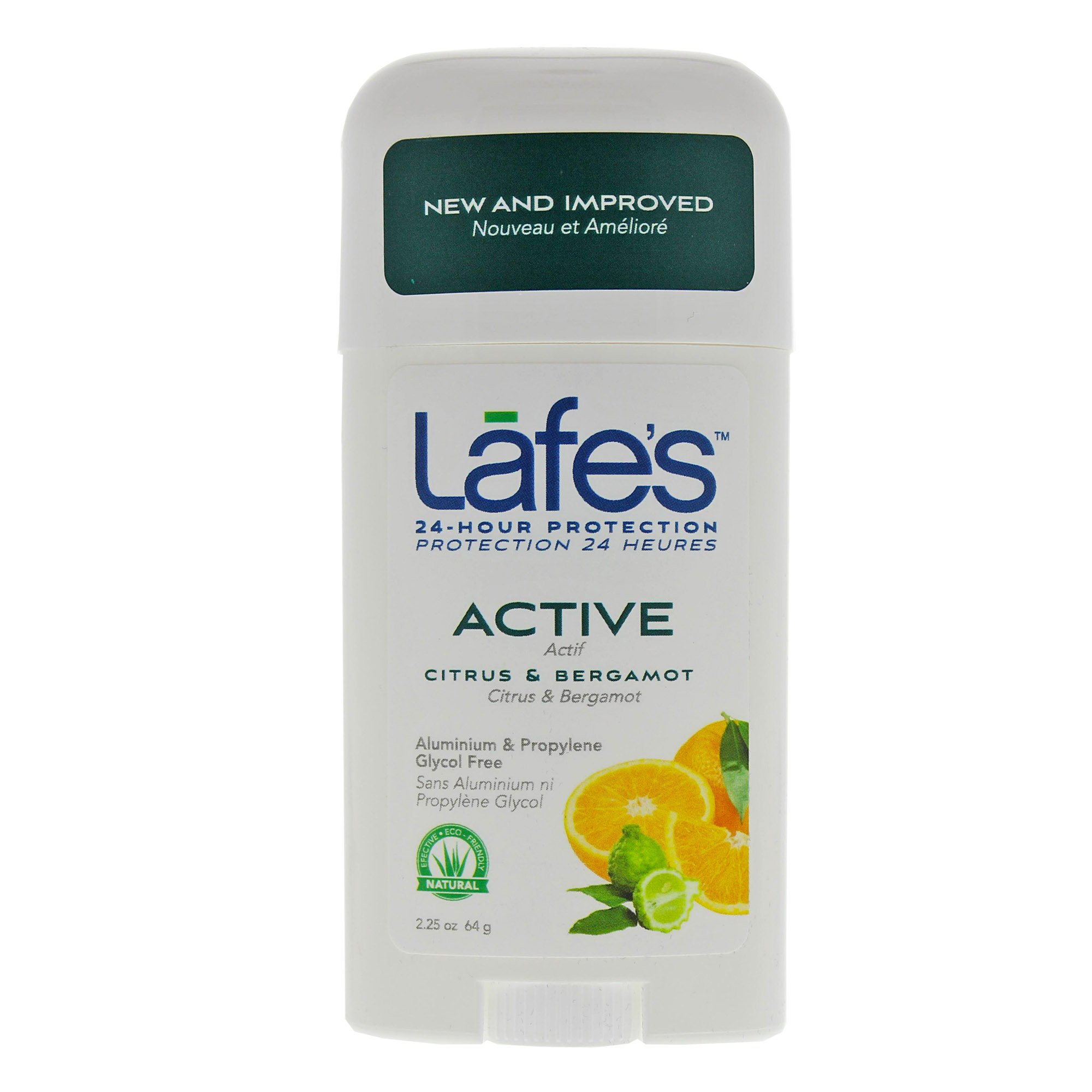 Lafe's Deodorant Stick, Citrus & Bergamot, 2.25 Ounce (Pack of 24) (Packaging May Vary)