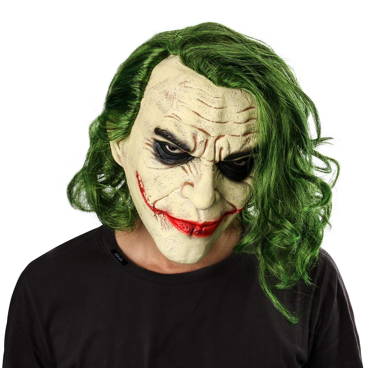 Halloween Clown.Amazon Com Adult Men Knight Horror Clown Costume Latex Mask
