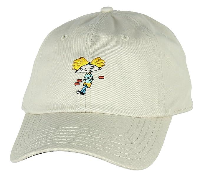 906de722d816ef Amazon.com: Nickelodeon Hey Arnold! Adjustable Hat Cap: Clothing