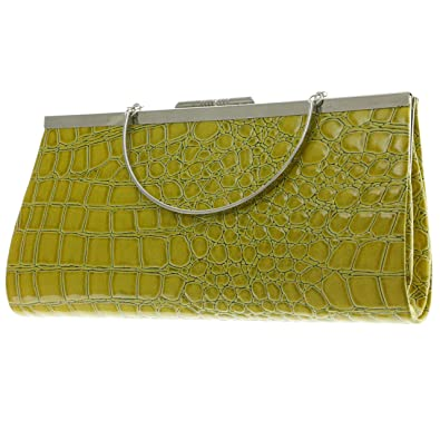 f616b6b91a Image Unavailable. Image not available for. Color: Mi Amore Clutch-Purse  Green/Silver-Tone