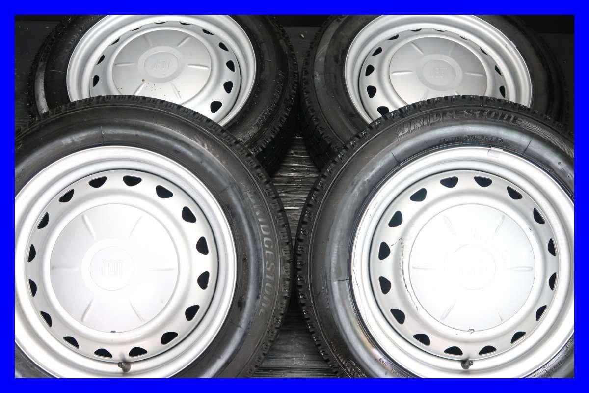 【中古スタッドレスタイヤ】【送料無料】4本セット ブリヂストン アイスパートナー 175/65R15  /   JECT 15x6.0  100/114.3-4穴  フィットに! 中古タイヤ W15180201088 B079R21LP6