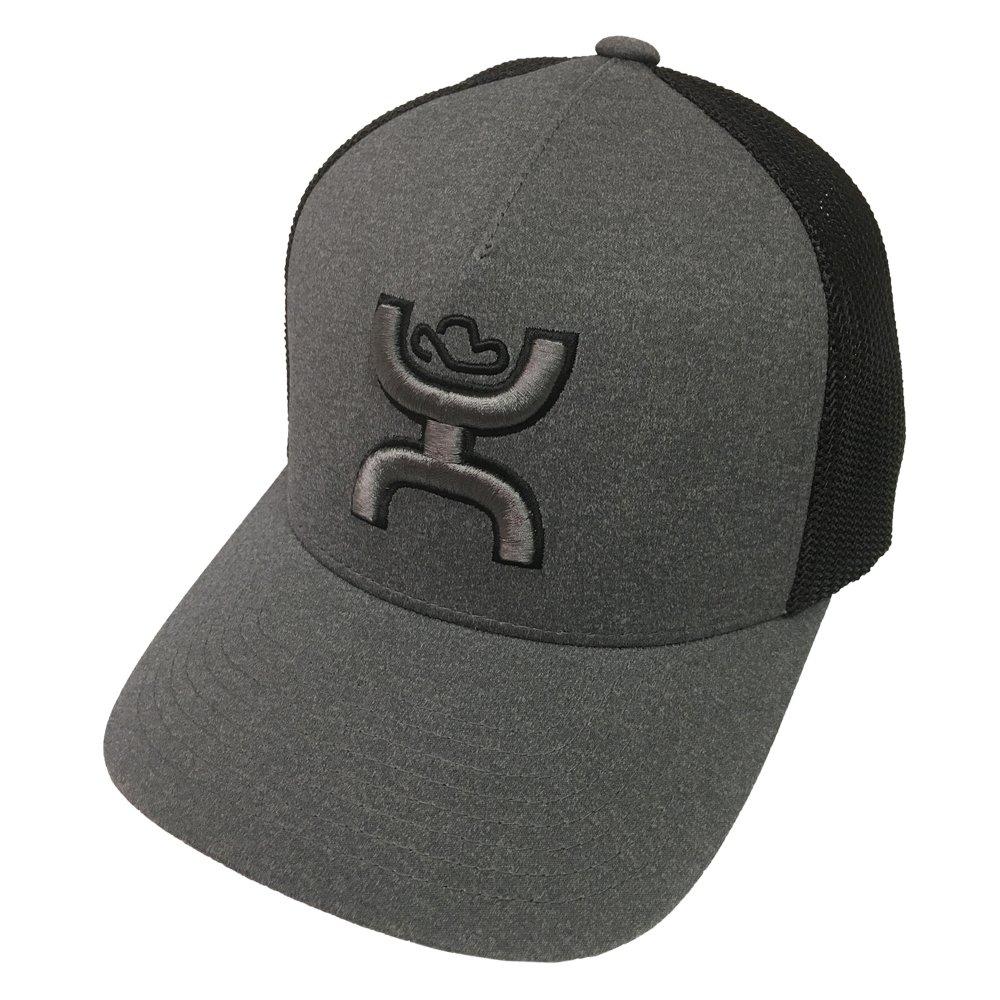 Amazon.com  HOOey Brand Coach Grey Black Flexfit Hat - 1775GYBK  Clothing 5786005cfadf
