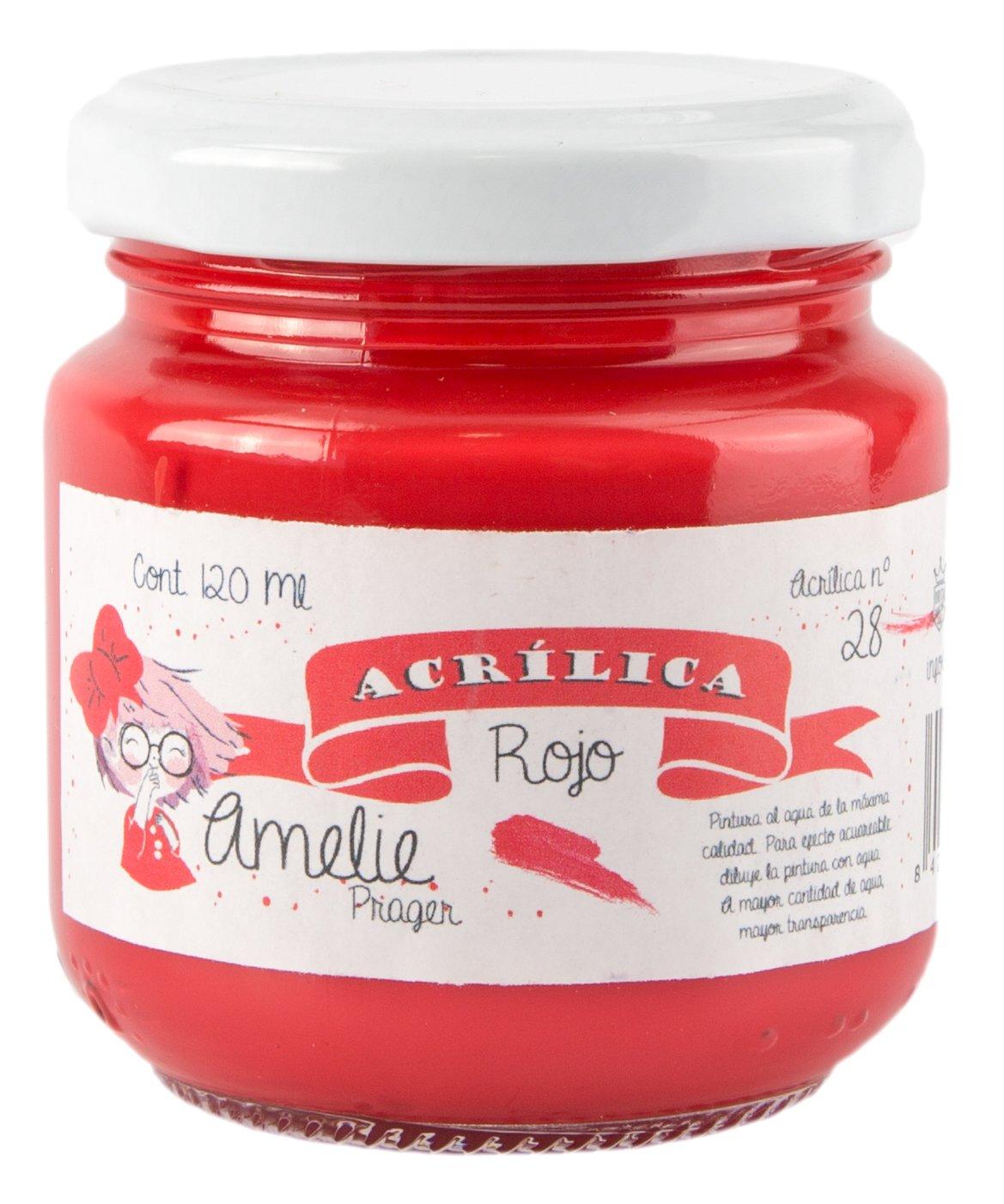 Amelie Prager AM120 –  28 Acrylic Paint, Red, 120 ml 120ml Orita AM120-28