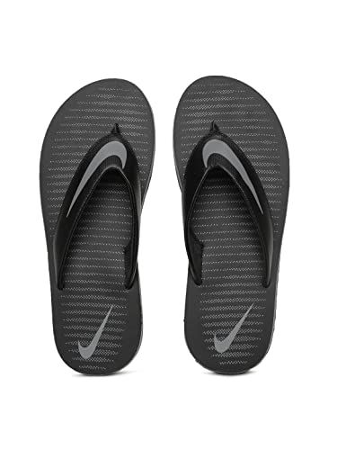 Nike Men's Chroma Thong 5 Black Slippers (833808-016) (UK-10