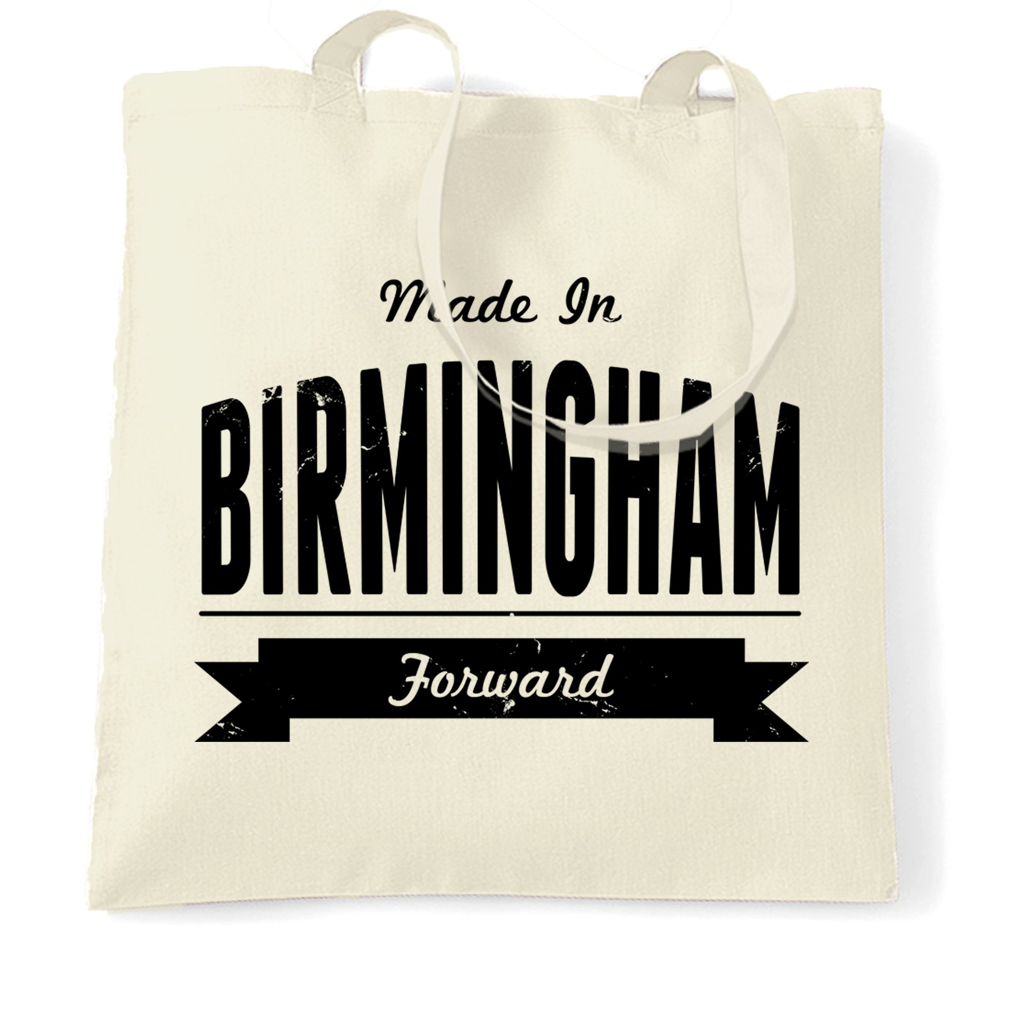 Hometown Pride Tote Bag Made in Birmingham Banner Natural One Size