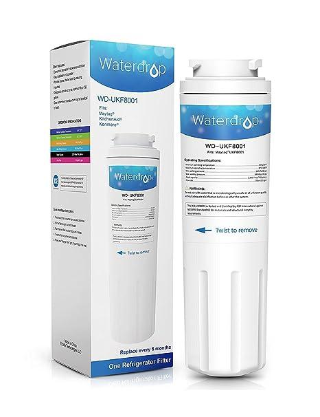 Waterdrop UKF8001 cartucho de filtro de agua para nevera ...