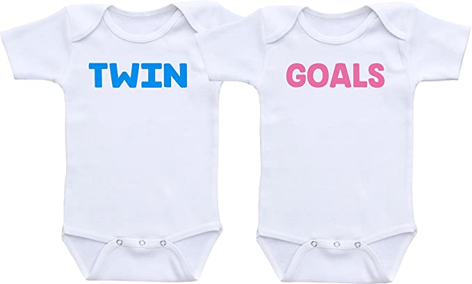 86360ca7ba1a Twin Goals - Cute Twin Outfit Twin Sets Baby Boy Baby Girl (3M Long Sleeve