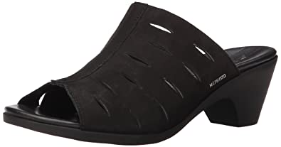 Mephisto Women's Cyrane Perf Dress Sandal, Black Bucksoft, ...