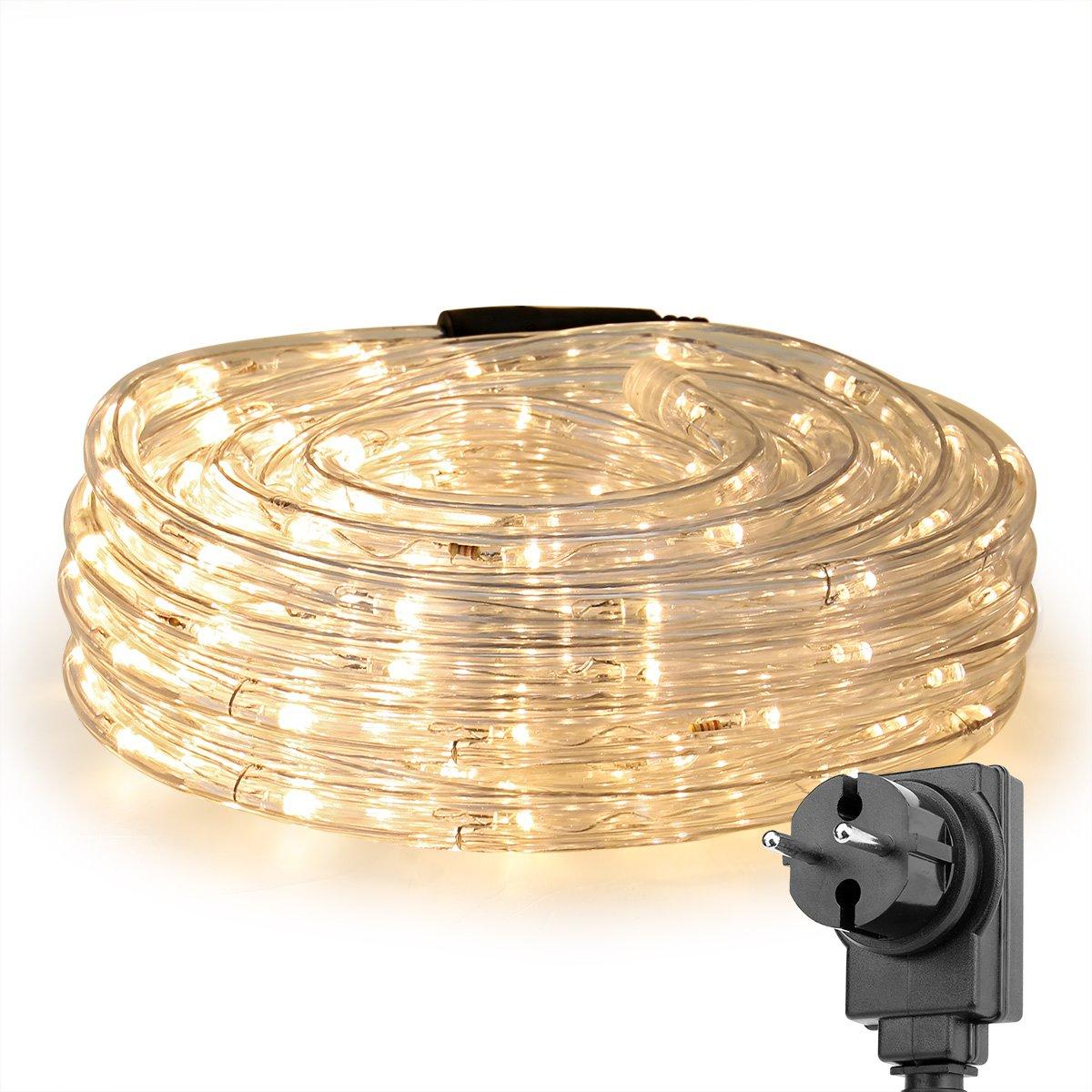 LE Tira de luces m LED Resistente al agua IP Blanco cálido