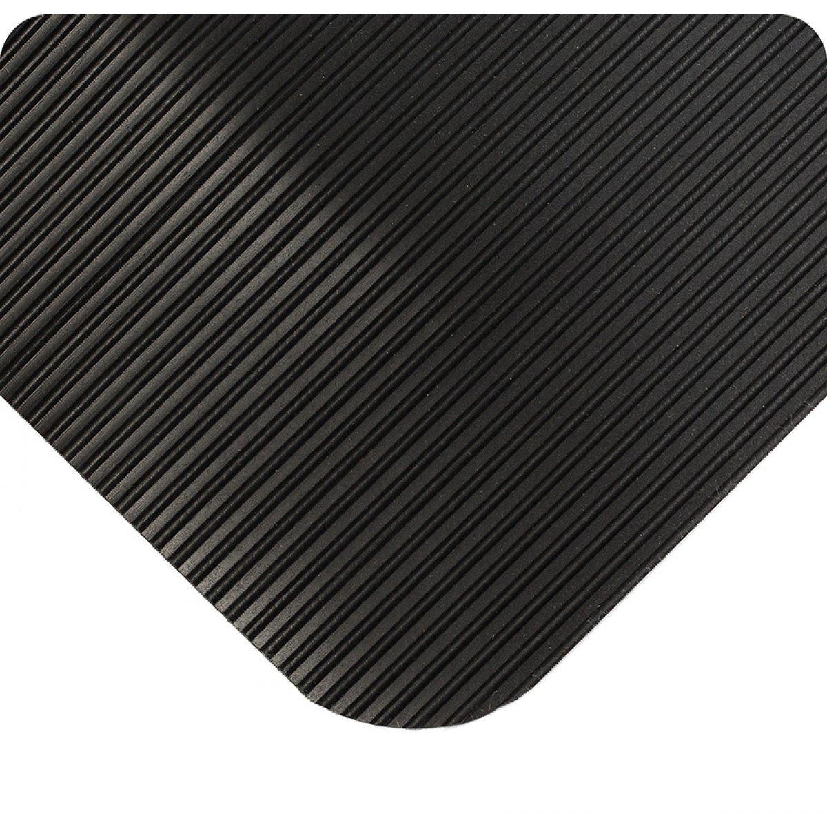 21 Length x 4 Width x 7//8 Thick Wearwell 433.78x4x21BK ComfortPro Mat Black