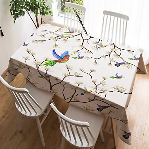 PLAIN FLORAL LEAVES FEATHERS GREY CREAM NATURAL BROWN PVC OIL VINYL TABLE CLOTH
