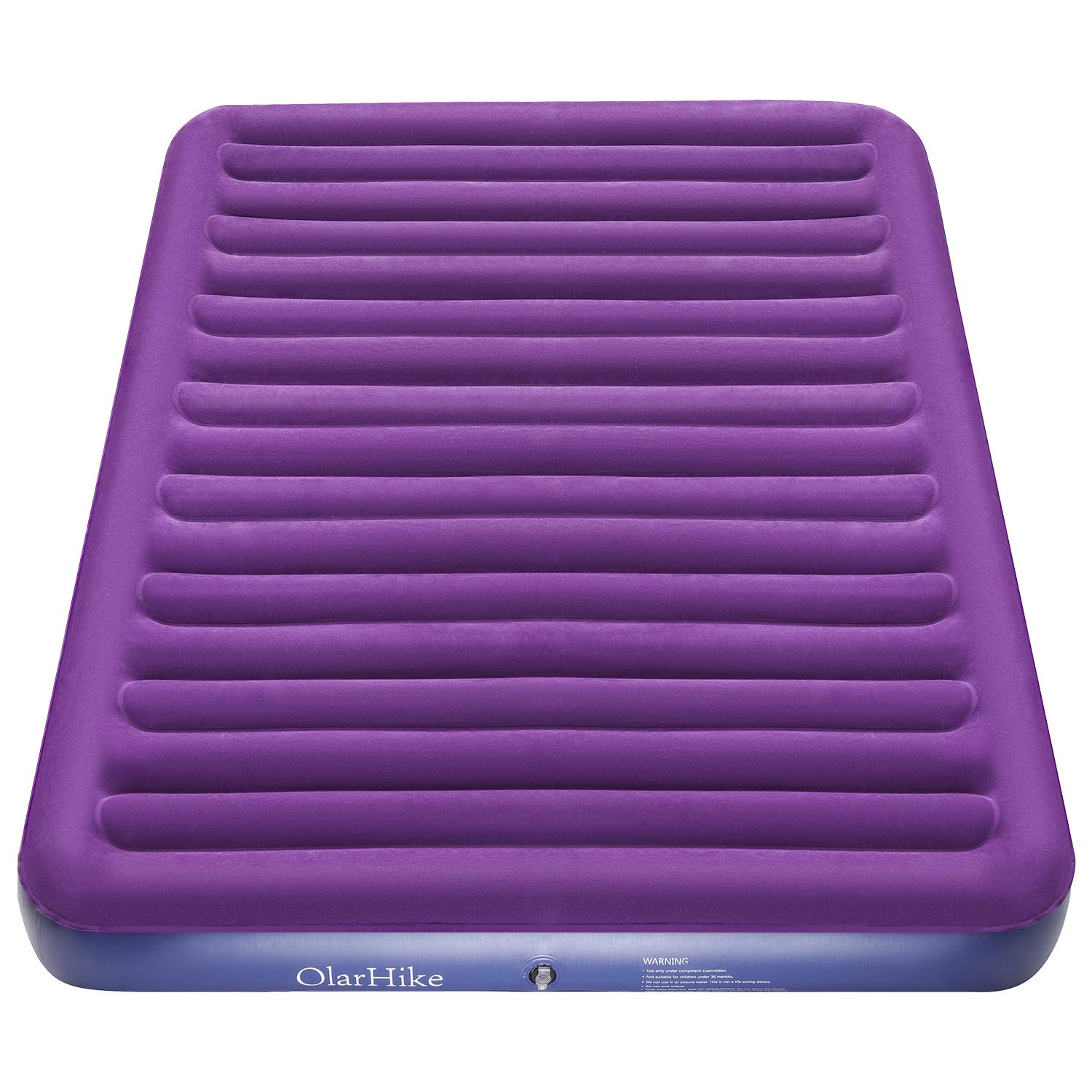 OlarHike Queen Air Mattress, Inflatable Single High Airbed for Guests, Blow up Raised Air Bed for Camping with Electric Air Battery Pump, Purple by OlarHike (Image #9)