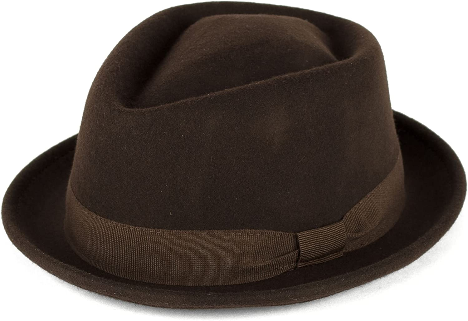 d2d Unisex 100/% Fine Wool Handmade in Italy Unisex Colonial Style Fedora Hat
