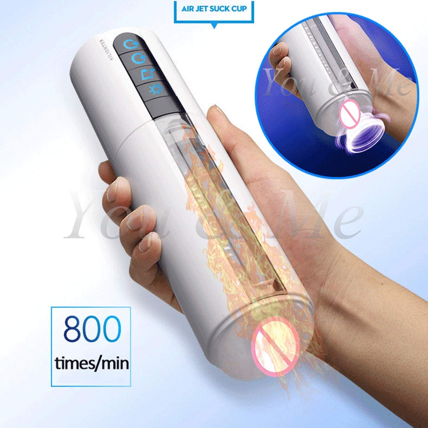 USEXMTY S-Tshirt New Intelligent Voice Heating Blowjob Sucking Privacy Machine Male Manuals Cup Artificial V-agina Real P-ussy for Men,Without Retail Box Harmless